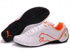 Womens Puma Speed Cat Big Shoes White Orange. Awesome deals!!