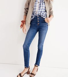 The Best Skinny Jeans to Wear With Ballet Flats via @WhoWhatWearAU