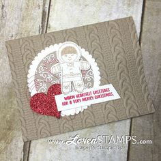 LovenStamps: Create a warm heart with the eskimo from Cookie Cutter Christmas - Cable Knit Folder card, for Stamps in the Mail Club with Meg