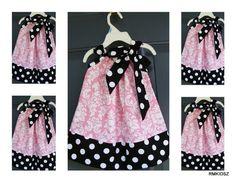 Buy 4 Get 1 Free Custom Made Pillowcase Dress--sizes available NB-3T--Michael Miller Dandy Damask. $14.50, via Etsy.