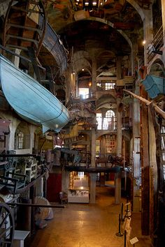 (Repin-- Mercer Museum in Doylestown, PA) Cabinet of Curiosities