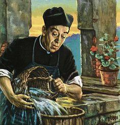 Correva l'anno 1959 Frate Indovino e Don Camillo in penitenza Camilla, Illustration, Vintage, Movie, View Tv, Illustrations, Vintage Comics