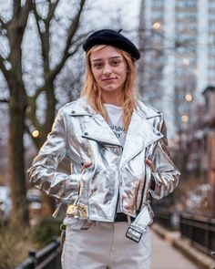 Silver Leather Jacket, Off Duty, Affordable Fashion, Vegan Leather, Sustainability, Bleach, Biker, Raincoat, Shell