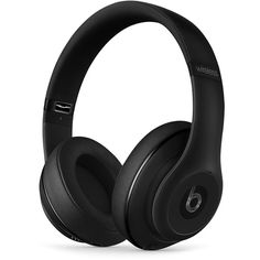 Beats by Dr. Dre Studio Wireless Headphones ($380) ❤ liked on Polyvore featuring matte black and beats by dr. dre