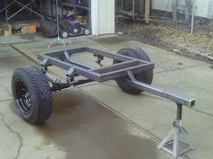 Click image for larger version Name: Jeep Trailer Views: 945 Size: KB ID: 41398 Bug Out Trailer, Off Road Camper Trailer, Trailer Diy, Trailer Plans, Trailer Build, Camper Trailers, Campers, Quad Trailer, Welding Trailer