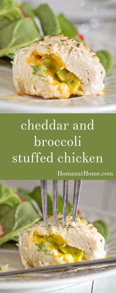 Gooey cheddar and broccoli florets wrapped in juicy garlic butter chicken. This deceptively easy stuffed chicken dinner only takes 30 minutes!