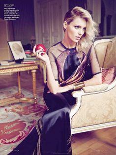 Anja Rubik Gets Glam for January Issue of Vanity Fair Spain