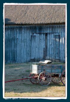 Hay wagon on the Schulz farm at dusk.