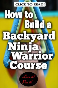 How to build a backyard ninja warrior course. Build one with age-appropriate obstacles both homemade and purchased, but ideally . Backyard Playground, Backyard For Kids, Diy For Kids, Backyard Ideas, Preschool Playground, Backyard Camping, Backyard Projects, Diy Projects, Kids Ninja Warrior