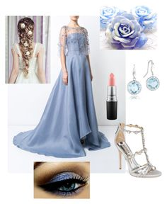 """Untitled #127"" by bribrireed on Polyvore featuring Marchesa, Badgley Mischka, Tacori, Disney and MAC Cosmetics"