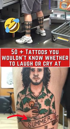 Tattoos aren't for everyone. But for those that choose to get them, they're a beautiful way to show off your love or passion about something or simply a way to use your body to display art. However, some people seem to forget that tattoos are forever. Here are 55 tattoos that are so cringe-worthy it almost hurts. At first you want to laugh…then you want to cry…and then you're laughing again.