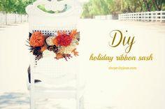DIY Fall Ribbon Sash.