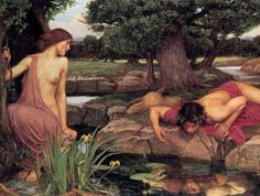 Echo and Narcissus - by John William Waterhouse