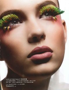 Very cool, unusual and colorful eyelashes!