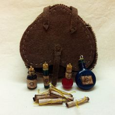 Skyrim Knapsack With Potions, And Recipes ...for my daughter