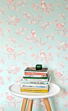 This wallpaper is just plain fun. Majvillan Wallpaper in Sugar Tree in Soft Turquoise. A fun wallpaper that is great in an adult or kids room or to brighten an entryway. Wallpaper Companies, Wallpaper Stores, Wallpaper Paste, Tree Wallpaper, Wallpaper Online, Kids Wallpaper, Wallpaper Samples, Pattern Wallpaper, Wallpaper Murals