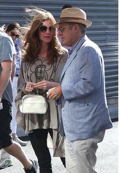 "pekingese333: "" NEW YORK, NY - SEPTEMBER 11: James Spader and Leslie Stefanson attend the men's final between Novack Djokovic of Serbia and Stan Wawrinka of Switzerland at Arthur Ashe Stadium on day 14 of the 2016 US Open at USTA Billie Jean King..."