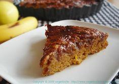 intriguing...Fat-free Vegan Lemon Cake with Banana Butter Topping