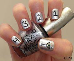 Happy New Year nails