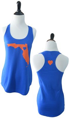 Florida inspired state Tank - www.TailgateQueen.com