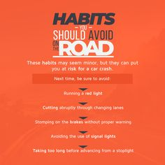 Habits You Should Avoid on the Road Insurance Benefits, Car Crash, Peace Of Mind, How To Plan