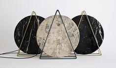 davide g. aquini places round marble in novecento table lamps - designboom   architecture