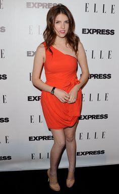 Anna Kendrick looks Beautiful, Gorgeous, Sexy, Pure and Stunning Orange Dress.