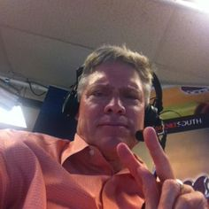 Dale Murphy in broadcast booth Braves