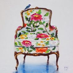 tell me, little birdie, painting by artist Kimberly Applegate