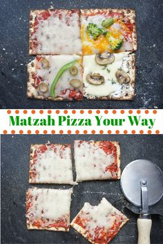 Fun ways to make matzah pizza for Passover
