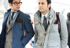 LAYERING  Tommy Ton's Street Style: Pitti Uomo Fall 2013: Style: GQ