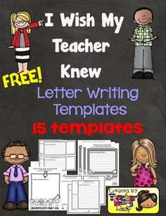 "FREE I Wish My Teacher Knew (Templates) from Teacher Mommy on TeachersNotebook.com - (17 pages) - 15 templates of ""I Wish My Teacher Knew"" I created after reading I Wish My Teacher Knew by Teacher Kyle Schwartz."