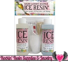 ICE RESIN 8 oz Kit Jewelers Grade Crystal Clear Doming Resin