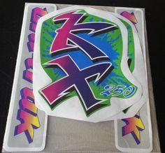 DECAL SET STICKERS GRAPHICS KAWASAKI KX 250 1990-92!FREE SHIPPING! #kx