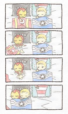 Just Superhusbands - Page 29 of 150 Spideypool, Superfamily Avengers, Stony Avengers, Avengers Comics, Avengers Memes, Baby Marvel, Baby Avengers, Disney Marvel, Steve And Tony