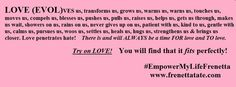 Try on LOVE! You will find that it fits perfectly. #EmpowerMyLifeFrenetta