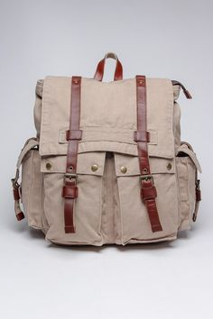 J. Campbell Washed Canvas Backpack