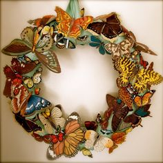 While I don't love this butterfly wreath, it provides lots of inspiration
