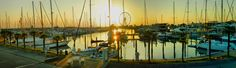 Sunrise, Marina Di Rimini - Rimini Harbor, Emilia-Romagna, Italy, Nikon Coolpix L310,8.4mm, 1/400s, ISO80, f/3.6, +1.0ev, polar filter, panorama mode :segment 3, HDR-art photography 201707110606