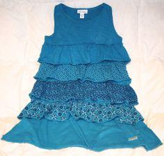 NAARTJIE Kids Girls XXXL 9 Years Blue Wave Tier Spring/Summer Dress MUST HAVE!