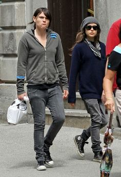 Clea DuVall & Ellen Page out and about.