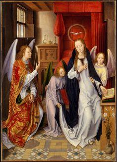 Hans Memling 'The Annunciation' (c.1480) Metropolitan Museum of Art, New York