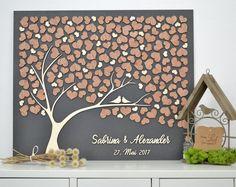 3D Liebe Baum Hochzeit Gast Buch alternative Baum Holz individuelle einzigartige Gast Buch Herzen Blätter rustikale Hochzeit rustikale Holz Baum Baum des Lebens