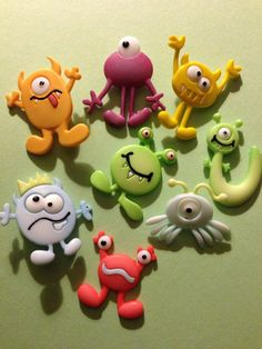 Silly Monster Buttons by CraftsbySharri on Etsy, $3.25