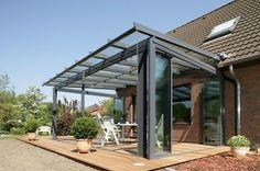 Aluminium, ongeïsoleerd Geniet van het buitenleven: met het terrasdak SDL Atrium plus verandert het terras in een heuse woonruimt...