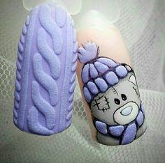 Winter Nails Designs - My Cool Nail Designs Winter Nail Art, Winter Nail Designs, Christmas Nail Designs, Christmas Nail Art, Nail Art Designs, Christmas Ideas, Love Nails, Fun Nails, Pretty Nails