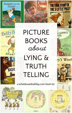 Picture Books about Lying and Telling the Truth that Teach Honesty Children's picture books about lying. These books teach honesty and integrity and encourage kids to tell the truth. Click through for the whole book list. Best Children Books, Toddler Books, Childrens Books, Social Emotional Learning, Social Skills, Coping Skills, Teacher Appreciation, Preschool Books, Mentor Texts