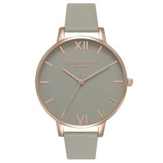 Buy Olivia Burton Women's Big Dial Leather Strap Watch | John Lewis