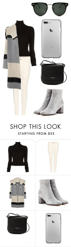 """""""Cozy cream"""" by annamul21 ❤ liked on Polyvore featuring BLK DNM, J Brand, Vince, Gianvito Rossi, Lancaster and Spitfire"""