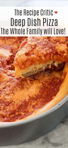 Pizza Recipes, New Recipes, Cooking Recipes, Favorite Recipes, Supper Recipes, Solo Pizza, Chicago Style, Chicago Chicago, Chicago Bears